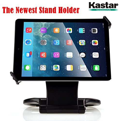 Kastar 360 Swivel Rotating Stand Holder Tabletop Stand with Collapsible Base for all iPad series: iPad1, iPad2, iPad3, iPad4, iPad Mini, iPad Air, Samsung Galaxy Tablets and 7