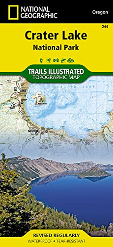 National Geographic Adventure Paper Map (Crater Lake National Park (National Geographic Trails Illustrated Map))