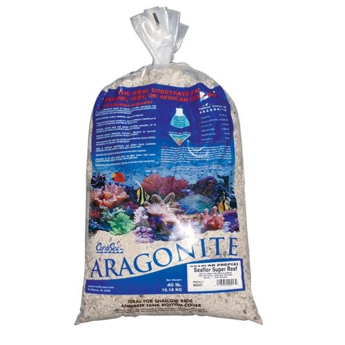 CaribSea Seaflor Super Reef Sand for Aquarium, 40 lb