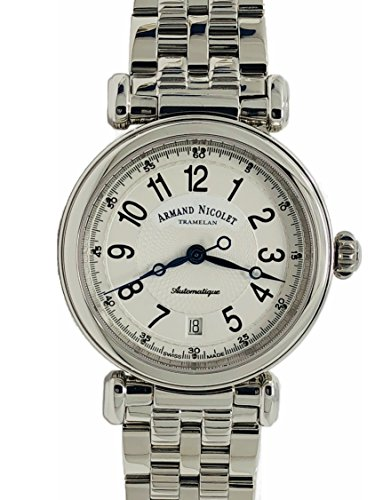 Armand Nicolet Automatic Watch Silver with Stainless Steel Bracelet Arc Royale 9420A-AG-M9430