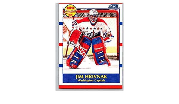 b6d0a56a0cb Amazon.com  Hockey NHL 1990-91 Score  386 Jim Hrivnak  386 NM RC Rookie  Capitals  Collectibles   Fine Art