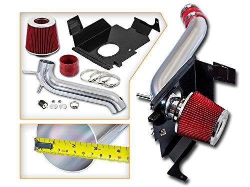 RSG Racing Cold Air Heat Shield Intake Kit RED For 05-08 Dodge Magnum V6 3.5L / 06-08 Charger V6 3.5L / 05-10 Chrysler 300 V6 3.5L ONLY