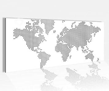 Karte Europa Schwarz Weiss.Acrylglasbild 100x40cm Schwarz Weiss Karte Welt Europa Bunt