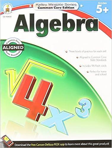 Algebra, Grades 5 - 8 (Kelley Wingate): Carson-Dellosa Publishing ...