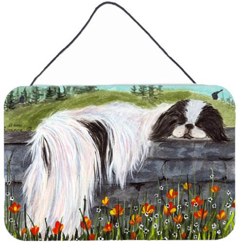 Caroline's Treasures SS8030DS812 Japanese Chin Indoor Aluminum Metal Wall or Door Hanging Prints, 8 x 12, Multicolor