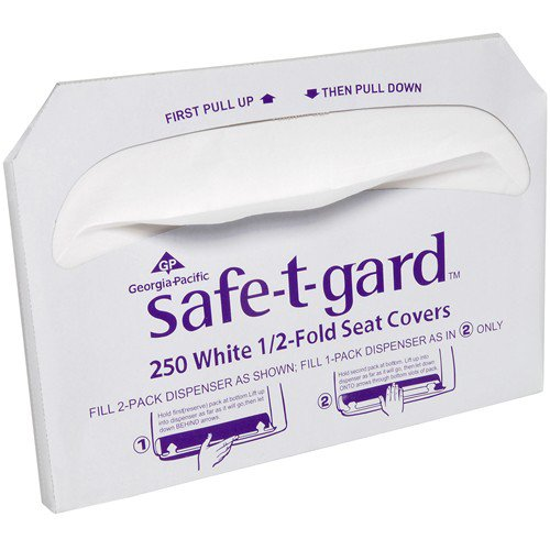 Georgia Pacific Saf-T-Gard Half-Fold Toilet Seat Covers (250 Covers/Pack) (20 Packs) - BMC-GPC 470-46 by Miller Supply Inc
