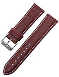 KS Official 22mm Mens Brown Genuine Leather Wrist Watch Band Strap Watchband Replacement WTL027