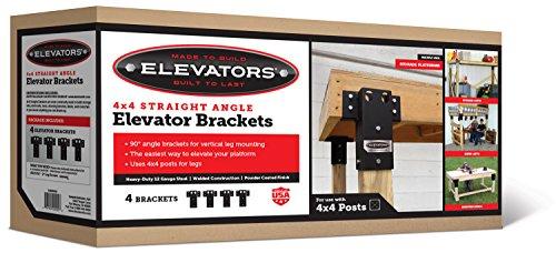 Summit Outdoor E1000 4 x 4 Straight Angle Elevator Brackets, Set of 4