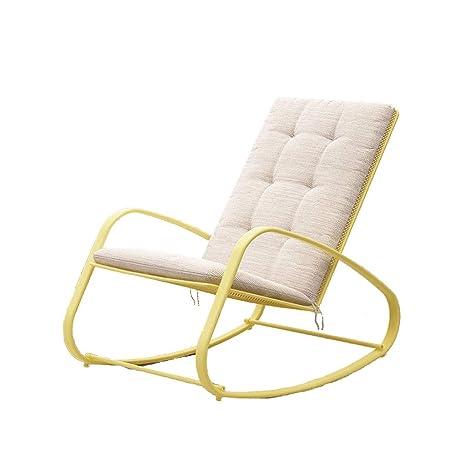 Rocking chair Health UK Silla Mecedora para Terraza, Cojín ...