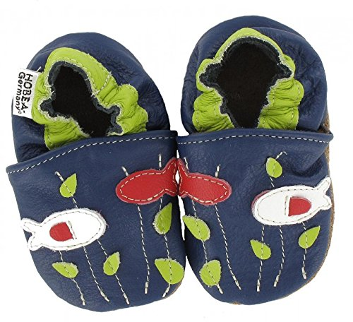 HOBEA-Germany Unisex Baby Ladybird Krabbelschuhe 4031
