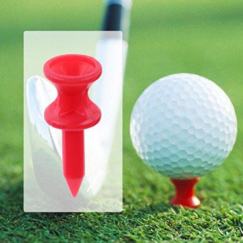 STORE-HOMER - 100PCS/Set 32mm Portable Plastic Golf Nail Golf Tees Pin Golfer Gifts Gadget Durable Cushion Top Golf Tee Golf ()