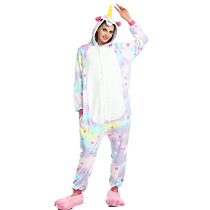 Colorfulworld Unicornio Anime Disfraces Trajes Disfraz Cosplay Animales Pijamas Pyjamas Ropa (XL, Star)