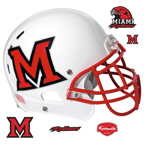 Fathead NCAA Miami Redhawks Miami RedHawks - Helmet Fathead