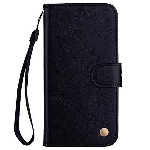 (Huawei Y3 2017 Case,Huawei Y3 2017 Case,Leather Cover Premium PU Leather Wallet Snap Case Leather Cover Leather Cover Flip Case Compatible with Huawei Y3 2017 Black )