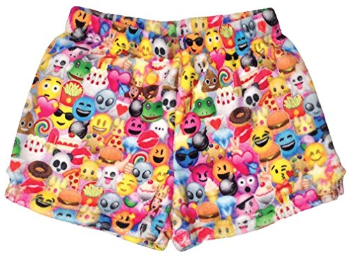 iscream Big Girls Silky Soft Plush Fleece Shorts - Kawaii Besties Collection