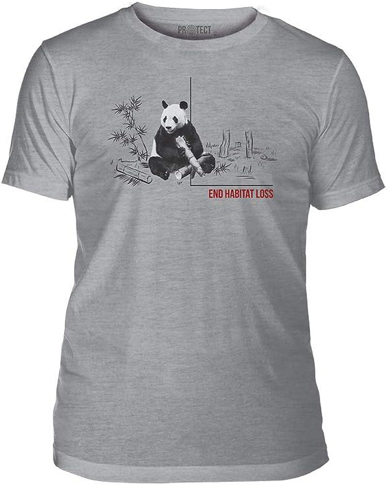 The Mountain End Habitat Loss Triblend Unisex T-Shirt - Habitat Panda - Grey, S