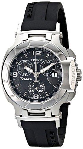 Tissot-Womens-T0482171705700-T-Race-Black-Dial-Rubber-Strap-Watch