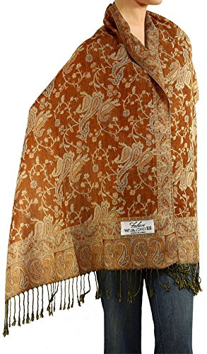 Falari Women's Woven Pashmina Shawl Wrap Scarf 80