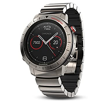 Garmin Fenix Chronos Titanium with Brushed Titanium Hybrid Watch Band