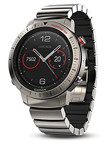 Garmin Fenix Chronos, Titanium with Brushed Titanium Hybrid Watch Band (Chrono Watch Sport)