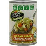 Health Valley Organic No Salt Added Soup, Chicken Noodle, 14.5 Ounce (Pack of 12) by Health Valley
