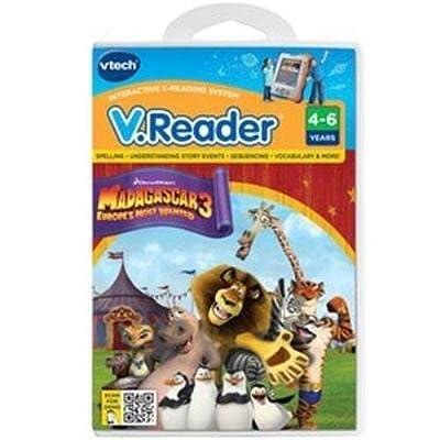 Vtech Electronics VReader SW Madagascar 3 (80-282200): Toys & Games