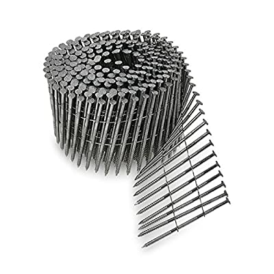 Simpson Swan Secure S13A250SNBP 2-1/2-Inch by 0.090 Ring Shank Wire Weld 15-Degree T-304 Stainless Steel Coil Siding Nails, 900 per pack from Simpson Swan Secure
