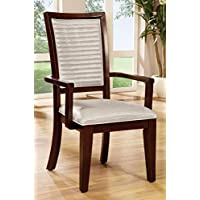 Furniture of America Lagos Contemporary Dining Arm Chair, Set of 2