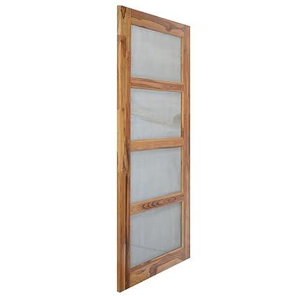 Splice Door Solid Teak Wood Jali Door (1.98X0.91 m, Thickness-30 mm on