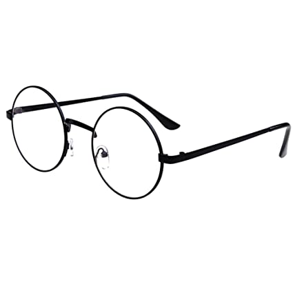 4c7db11327224 Peiosendor Retro Round Metal Frames Vintage Clear Lens Glass Spectacles  Casual Classic Oversize Eyewear Optical Circle