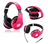 3.5mm Headphone Earphone Earbuds Headset Stereo iPhone iPod MP3 MP4 PC Tablet (pink), Best Gadgets