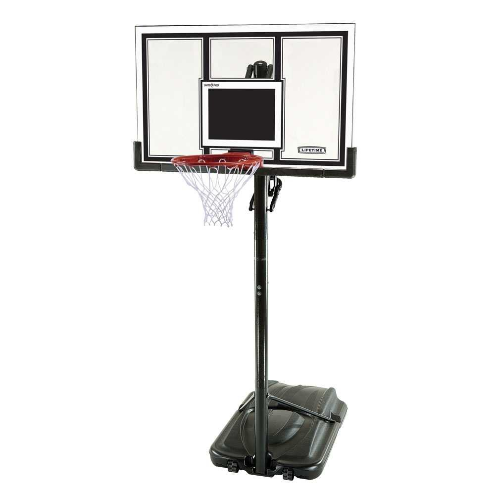 Lifetime 71524 XL Height Adjustable Portable Basketball System, 54 Inch Shatterproof Backboard by Lifetime