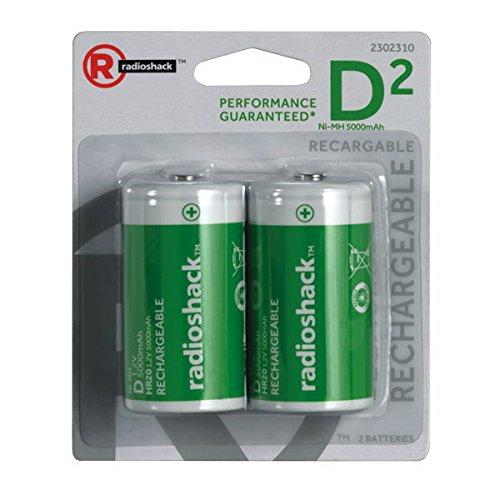 RadioShack 5000mAh D NIMH Batteries (2-Pack)