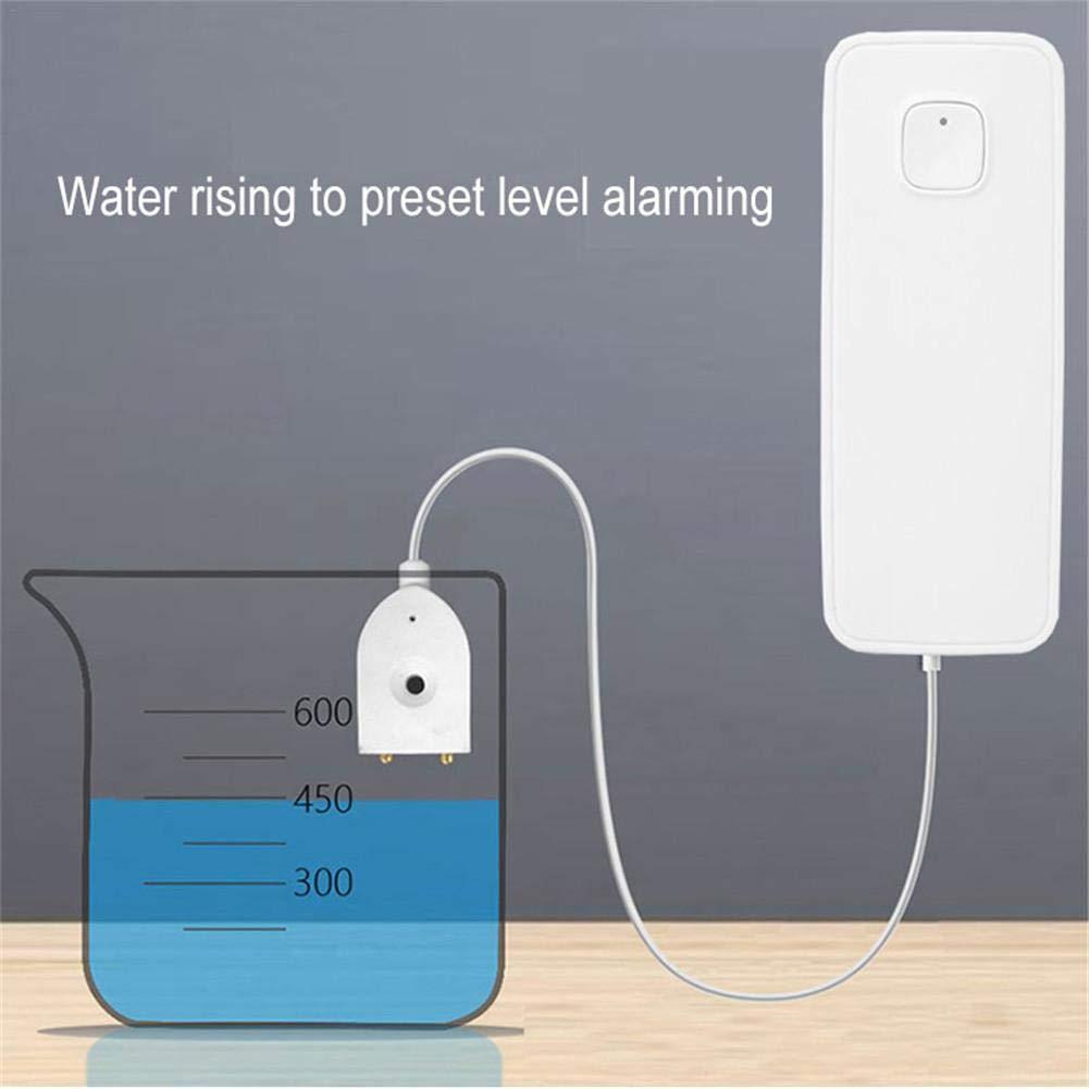 Sensor de Agua inal/ámbrico con notificaci/ón Alerta de Fugas de la aplicaci/ón Inteligente Fuga de Monitor Remoto Detector de Fugas de Agua inal/ámbrico ZSLGOGO Alarma de Fugas de Agua WiFi