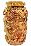Craft Trade Handmade Animal Design Wooden Pen Stand Standard Brown 3