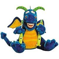 Zahnkönige Dientes Reyes | Peluche marioneta de Mano muñeca Dragón Dragón, Incluye 1Cepillo de Dientes, Aprox. 20–30cm | Dentista Niños Decoración