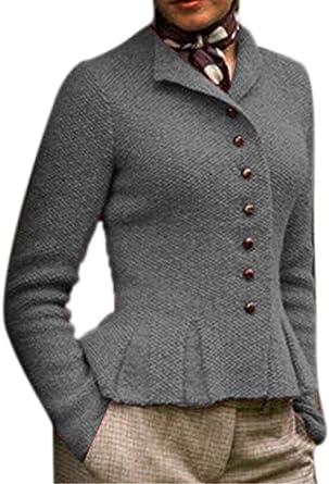 Cárdigan Vintage de Mezcla de algodón para Mujer Abrigos de ...