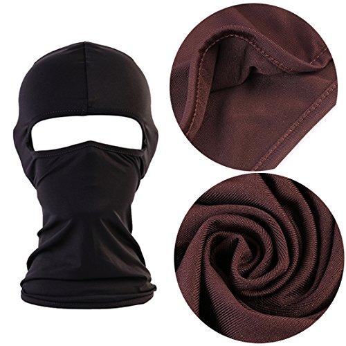 QHIU Tactique Masque Cagoules Ninja Capuche Camouflage Visage Protection Sport en Plein Air Extérieur Armée Cyclisme… 5