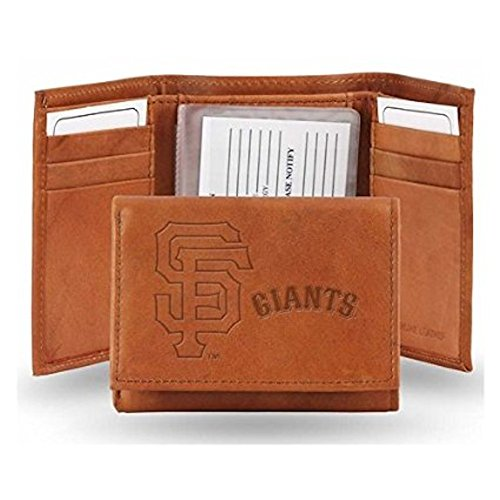 Giants Rico Tri Fold Wallet - San Francisco Giants Official MLB Leather Trifold Wallet