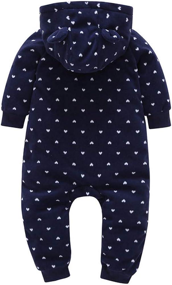 Kehen Baby Boys Girls Red Black Grid Fleece Rompers Jumpsuit Hooded Pocket Bobysuit Pajamas Clothes