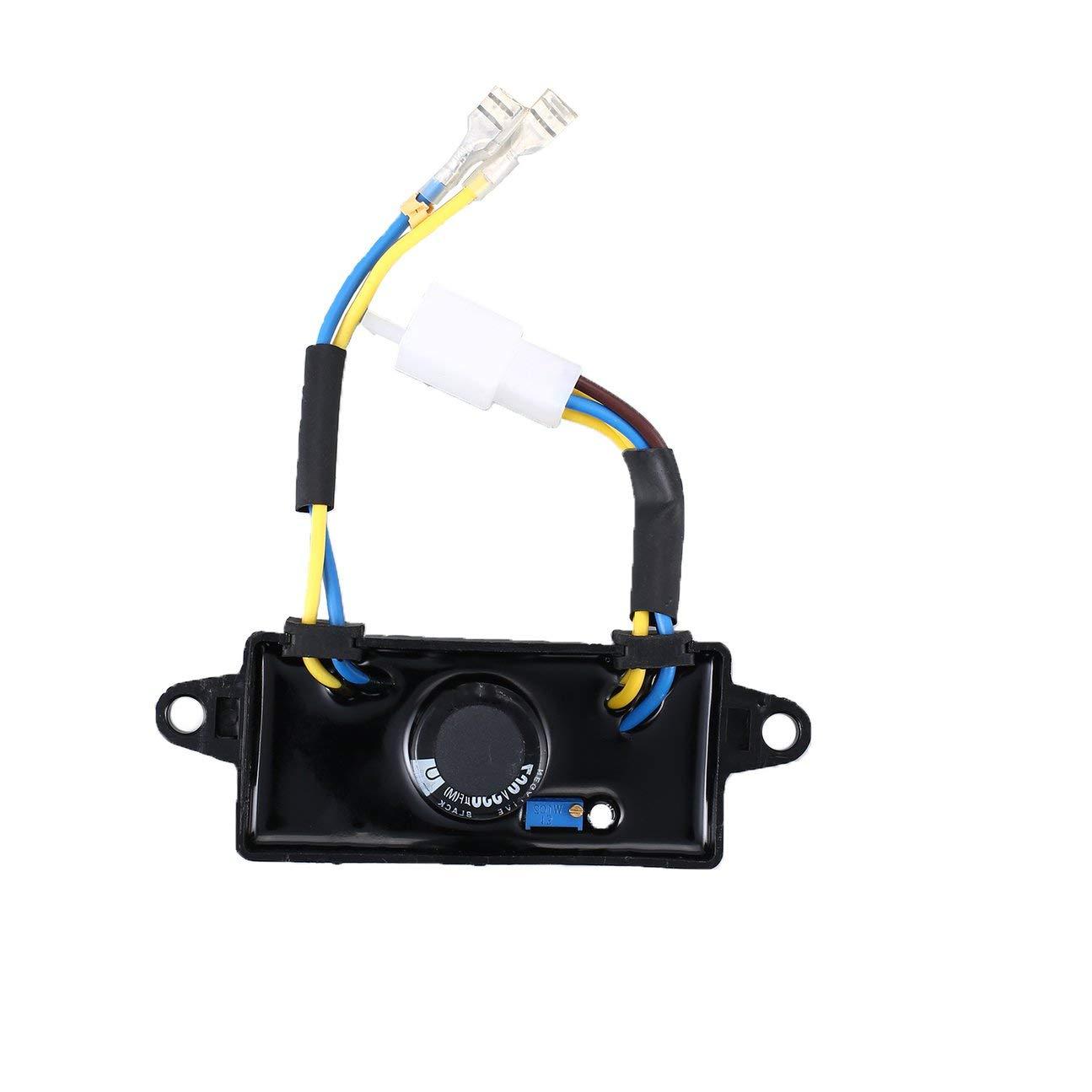 MachinYesell R/égulateur Rectifieur AVR 2KW-3KW Monophas/é pour G/én/érateur dessence Automatique 8x4x2.2cm Noir