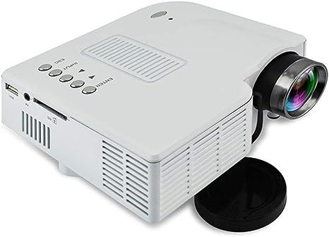 Opinión sobre QK Proyector, Mini Proyector Portátil en Casa, Soporte HD 1080P, Pantalla Grande, Altavoces, Compatible con SD/VGA/AV/USB/HDMI,Blanco