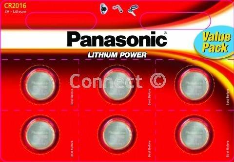 Panasonic CR2016 Coin Batteries (Panasonic batteries, Consumable) DL2016 ECR2016 FA SBT11 BR2016 208-202 208-204 208-206 DL2016B BR2016-1W CR2016-1W KCR2016 L10 LM2016 LF1/4V