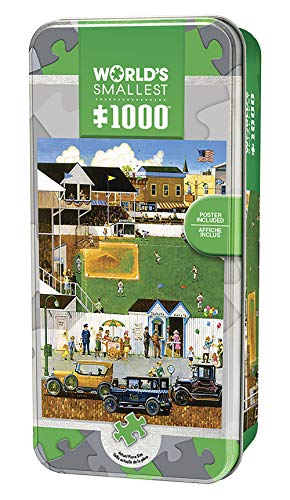 (MasterPieces World's Smallest Jigsaw Puzzle Tin, Before The Big Game, Collectable Box, 1000 Mini Pieces, Assorted )