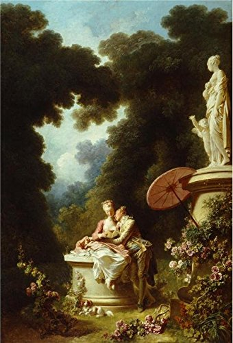- 'Jean-Honore Fragonard - The Progress Of Love - Love Letters, 1771-72' Oil Painting, 30x44 Inch / 76x112 Cm ,printed On Perfect Effect Canvas ,this Imitations Art DecorativePrints On Canvas Is Perfectly Suitalbe For Bathroom Gallery Art And Home Decoration And Gifts