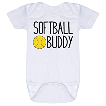 9305321c8 Amazon.com: ChalkTalkSPORTS Softball Baby & Infant Onesie | Softball ...