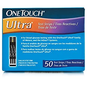One Touch Ultra Test Strips  50 CT Int 3 Language:English, Spanish, Portuguese