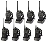 Walkie Talkies Long Range Rechargeable Two Way Radio Built in LED Torch for Outdoor Travel Adventure (Pack 8)