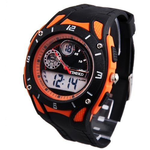Time100-Dual-time-Display-Multifunction-Orange-Bezel-Outdoor-Sport-Watch-W40073M04A