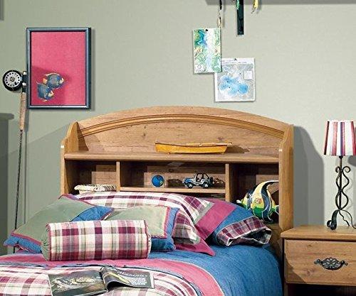 (Prairie Twin Bookcase Headboard (39